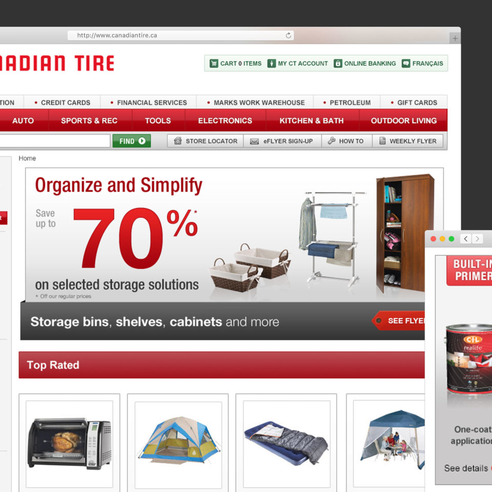 Canadian Tire Website