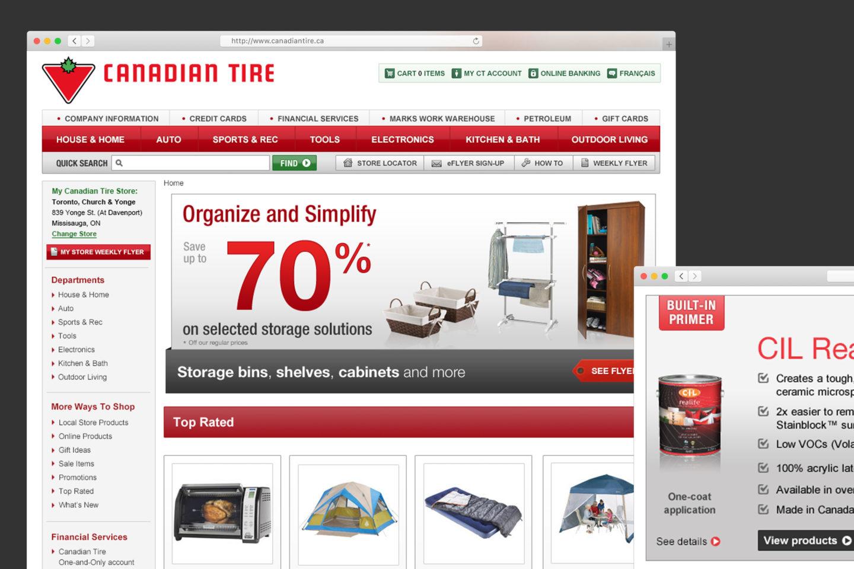 Canadian Tire Website